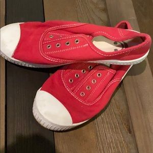 Red sneaks from Charming Charlie's